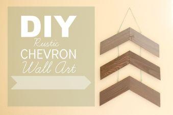DIY Rustic chevron wall art